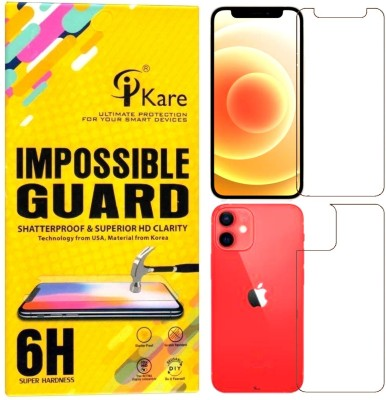iKare Front and Back Screen Guard for Apple iPhone 12 Mini(Pack of 2)
