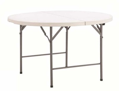 Urbancart Portable ABS Patio Folding Table with Carrying Handle for Indoor, Outdoor, Picnic, Party, Camping (1.2 Meter -Round) Plastic Outdoor...