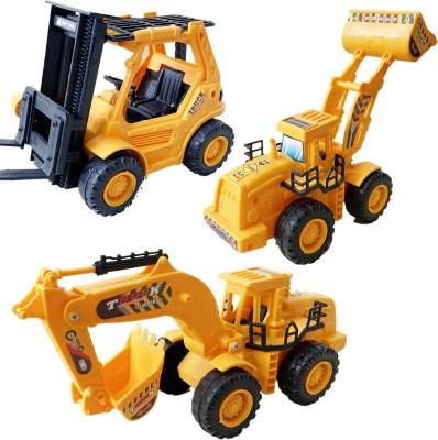 Techhark Pack of 3 JCB Construction Set For Kids(Yellow, Black, Pack of: 3)