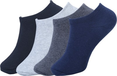FABdon Men & Women Solid Low Cut(Pack of 4)