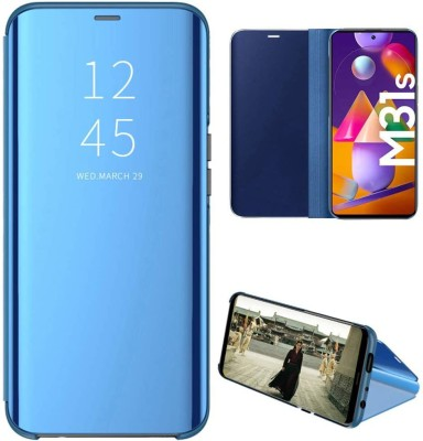 SKIN WORLD Flip Cover for Samsung Galaxy M31s(Blue, Grip Case)