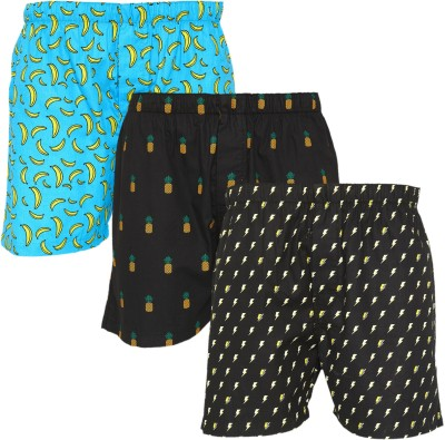 XYXX Super Combed Cotton Printed Men Boxer(Pack of 3)