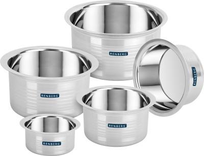 Renberg Steelix Tope Cookware Set(Stainless Steel, 5 - Piece)