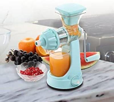 Ganesh Plastic Hand Juicer ™Plastic Classic Fruits & Vegetable Juicer with Steel Handle, Blue(Blue Pack of 1)
