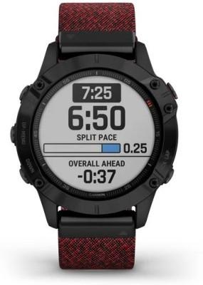 Garmin Fenix 6 Smartwatch(Red Strap, Regular)
