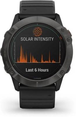 Garmin Fenix 6X Pro Solar Smartwatch(Black Strap, Regular)