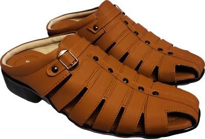 RAGE GAZE Men Beige Sandals