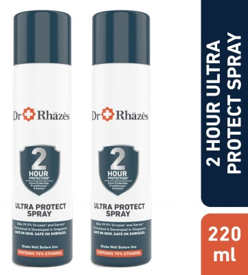 Dr Rhazes 2 Hour Non Stop Ultra Protect Sanitizer Spray Can(2 x 110 ml)