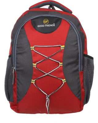 GOOD FRIENDS Waterproof 15.6 L Laptop Backpack Red, Black GOOD FRIENDS Backpacks