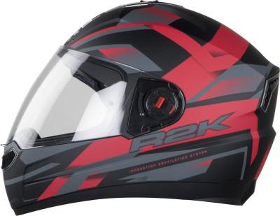 Steelbird SBA-1 R2K Motorbike Helmet(Matt Black/Red with Plain Visor)