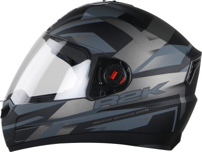 Steelbird SBA-1 R2K Motorbike Helmet(Matt Black/Grey with Plain Visor)