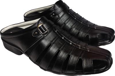 RAGE GAZE Men Black Sandals