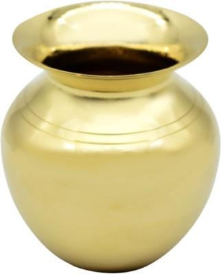 Puja N Pujari Brass Kalash Chambu for Festival Pooja Brass Kalash(Gold)
