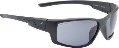 Fastrack Shield Sunglasses(For Men, Grey)