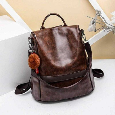 POLINTPLEX Fashion girls school backpack bag ladies college style multifunctional Casual designers backpack women Artificial Leather mini backpack 10 L...