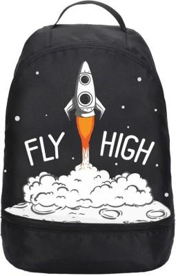 Bewakoof Fly High Rocket Printed Small Backpack 2.5 L Backpack Black Bewakoof Backpacks