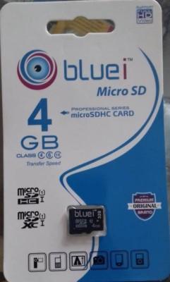 Bluei Professional series 4 GB MicroSD Card Class 10 100 MB/s Memory Card