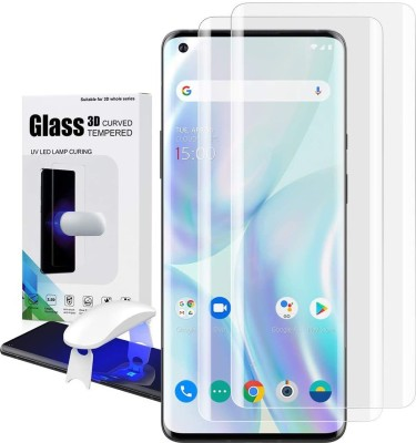 CASEKOO Edge To Edge Tempered Glass for OnePlus 8 Pro(Pack of 2)
