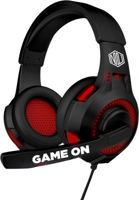 Nu Republic Dread EVO Wired Gaming Headset(Black, Red, On the...