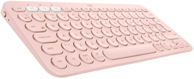 Logitech K380 Bluetooth Multi device Keyboard Pink Logitech Keyboards