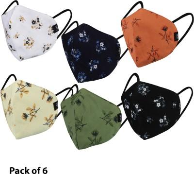 NEA 100% Cotton 3- Layer Protective Fashionable Face Mask (Reusable & Washable)...