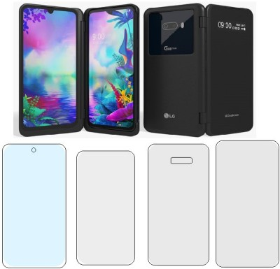 FINCH Front and Back Tempered Glass for LG G8X ( 3 PACK )(Pack of 4)