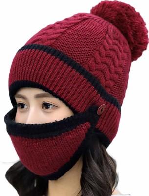 iSweven Solid, Woven Woolen Winter Beanie Cap