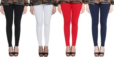 Clarita Ankle Length Ethnic Wear Legging(Red, Dark Blue, Black, White, Solid)