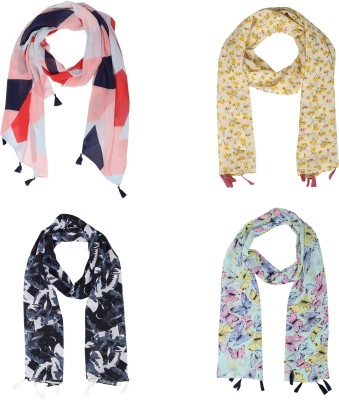 ICW Printed Georgette Women Scarf