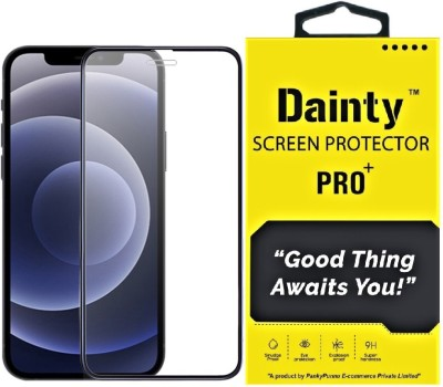 Dainty Edge To Edge Tempered Glass for Apple iphone 12 Pro Max(Pack of 1)