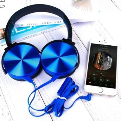 rsfuture MDR-XB450AP Wired Extra Bass On-Ear Headphones Wired Headset(Blue, On the Ear)