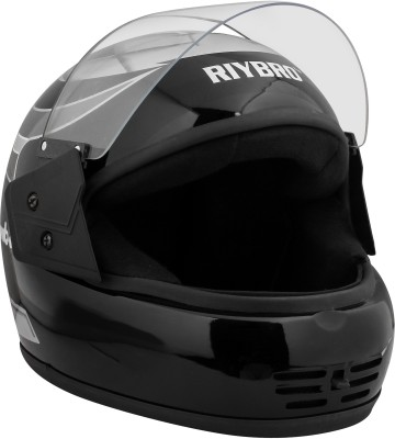 COFFARS (ISI) Full Face Helmet Motorbike Helmet(Black, Silver)