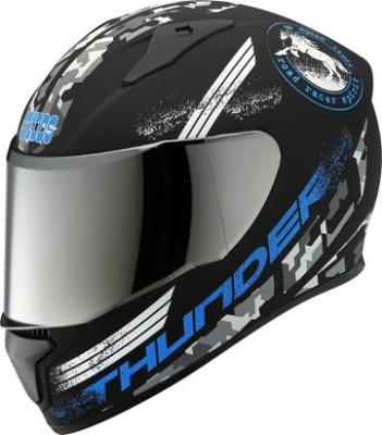 STUDDS THUNDER D2 FULL FACE WITH MIRROR VISOR Motorbike Helmet(Matt Black)