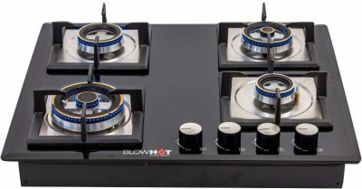 BlowHot Prince Gas Hob 4 Burner Auto Ignition - 8mm Glasstop, 1X125...