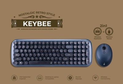 iGear iG 1114 KeyBee Retro Typewriter Inspired 2.4GHz Wireless Keyboard,...
