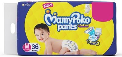 MamyPoko PANT TYPE DIAPER MEDIUM 36 COUNT PACK   M 36   M 36 Pieces MamyPoko Baby Diapers