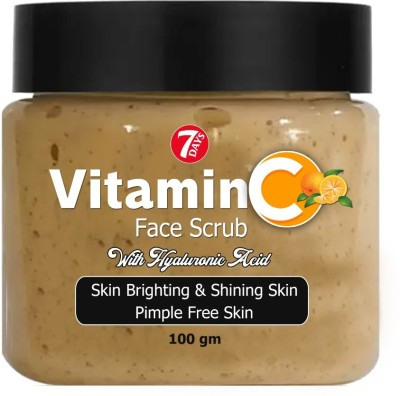 7 Days Vitamin C Face Scrub Tan Removal Repair Damage Caused By Sun Acne And Pimples Free Skin Anti ageing  Scrub (100 g)