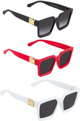 Phenomenal Rectangular Sunglasses(Black)
