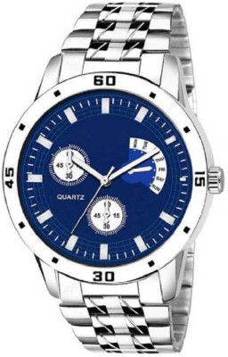 blutech Special Blue Dial Silver Watch Analog Watch   For Boys blutech Wrist Watches