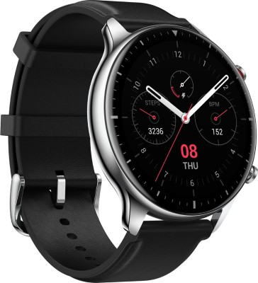Huami Amazfit GTR 2 Stainless Steel Smartwatch(Black Strap, Regular)