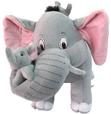 MSY TOYS Mother Elephant With 2 Babies Soft Toy   40 cm Grey MSY TOYS Soft Toys
