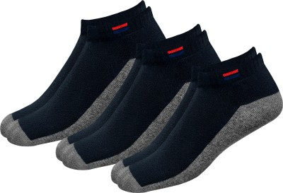 Navy Sport Men Solid Ankle Length(Pack of 3)