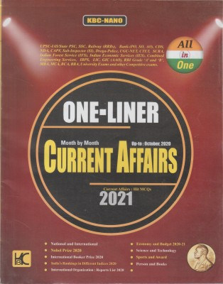 ONE LINER CURRENT AFFAIRS HIT MCQs 2021(Paperback, KBC NANO)