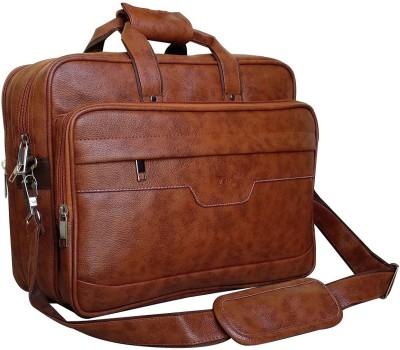 SM 15.6 inch Laptop Messenger Bag Tan SM Laptop Bags