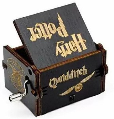 CAAJU Handcrafted Wooden Movie Music Box black Harry Potter(Multicolor)