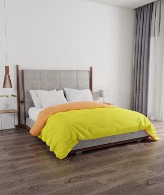 PORTICO NEW YORK Solid Double Comforter(Microfiber, Yellow, Orange)