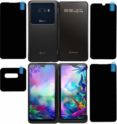 FIRST IMPRESSION Front and Back Tempered Glass for LG G8X(Pack of 4)