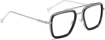 ROZZETTA CRAFT Rectangular Sunglasses(For Men & Women, Clear)