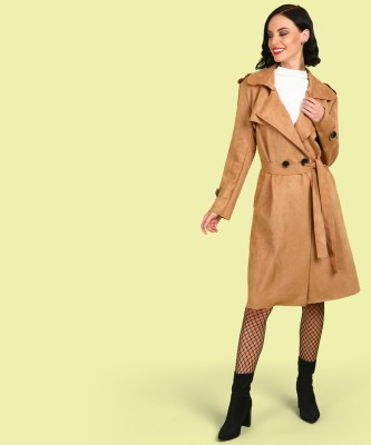 Insua Faux Leather Solid Coat
