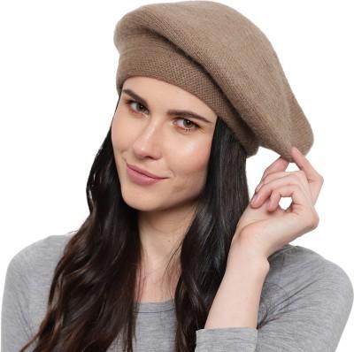 ZACHARIAS Woolen Brown Hat(Brown, Pack of 1)